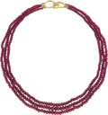 Estate Jewelry:Necklaces, Ruby, Gold Necklace, Tiffany & Co. . ...