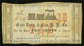 Obsoletes By State:Tennessee, Knoxville, TN- The East Tennessee & Georgia Rail Road Co. 10¢ June 20, 1862 Garland 1371. ...