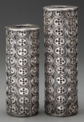 Silver & Vertu:Hollowware, A PAIR ANTONIO PINEDA SILVER WEIGHTED CANDLESTICKS, Taxco, Mexico, circa 1953. Marks: .999 SILVER, NOT SOLID, PINEDA, TAXC... (Total: 2 )