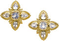 Estate Jewelry:Earrings, Moonstone, Gold Earrings, Paula Crevoshay. ...
