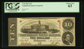 Confederate Notes:1863 Issues, T59 $10 1863 PF-33 Cr. 435.. ...