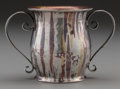 Silver Holloware, American:Cups, AN AMERICAN SILVER AND MIXED METALS TWO-HANDLED CUP, circa 1890.Marks: STERLING AND OTHER METALS. 2-1/2 inches high (6....
