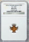 California Fractional Gold: , 1876/5 50C Indian Round 50 Cents, BG-1059, R.4, MS62 Prooflike NGC.NGC Census: (3/10). ...