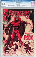 Silver Age (1956-1969):Superhero, The Avengers #57 (Marvel, 1968) CGC NM 9.4 Off-white pages....