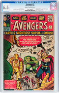 Silver Age (1956-1969):Superhero, The Avengers #1 (Marvel, 1963) CGC FN+ 6.5 Cream to off-white pages....
