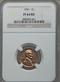"""Proof Sets, 1941 NGC Proof Set Including 1C PR64 Red, 5C PR66, 10C PR65, 25C PR66 and 50C No """"AW"""" PR65.. From The Virginia Cabinet.... (Total: 5 coins)"""
