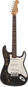 Music Memorabilia:Autographs and Signed Items, Stevie Ray Vaughan and Jimmie Vaughan Signed Fender Electric Guitar....