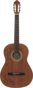 Music Memorabilia:Autographs and Signed Items, America Signed Guitar....