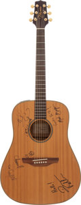 Music Memorabilia:Autographs and Signed Items, Hootie & the Blowfish Signed Guitar....