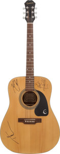 Music Memorabilia:Autographs and Signed Items, Kenny Chesney, Tim McGraw, and Mark Collie Signed Guitar....