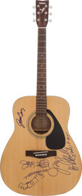 Music Memorabilia:Autographs and Signed Items, Joni Mitchell, Joan Baez, and Judy Collins Signed Guitar....