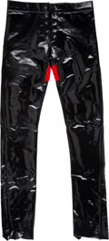 "Music Memorabilia:Costumes, Mötley Crüe -- Vince Neil Black Vinyl ""Dr. Feelgood"" Pants(1989-1990)...."