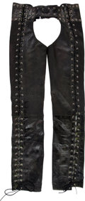 Music Memorabilia:Costumes, Iggy Pop Leather Chaps Worn on Rolling Stone Magazine(1989)....