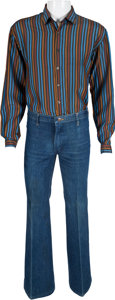 Music Memorabilia:Costumes, The Who - John Entwistle Owned and Worn Shirt and Jeans.... (Total:2 )