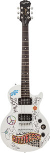 Music Memorabilia:Autographs and Signed Items, Hippiefest Multi-Signed Guitar....