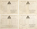 Baseball Collectibles:Others, 1887-88 Brooklyn Grays/Bridegrooms Scorecards Lot of 4. Fascinating quartet recounts the action at Brooklyn's Washington Pa...
