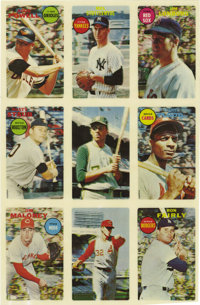 1968 Topps 3-D Baseball Uncut Sheet of 9. Well-established as one of the true rarities of the modern card era, the 1968...