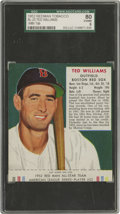 Baseball Cards:Singles (1950-1959), 1952 Red Man Tobacco Ted Williams #23 SGC 80 EX/NM 6. Red Manbaseball cards were the first national set of tobacco cards p...