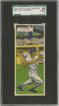 1955 Topps Doubleheaders Ted Williams/Hal Smith #69/70 SGC 88 NM/MT 8. The '55 Topps Doubleheaders, which are a call bac...
