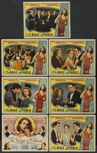 """The Rage of Paris (Universal, 1938). Title Lobby Card and Lobby Cards (6) (11"""" X 14""""). Comedy. ... (Total: 7 I..."""