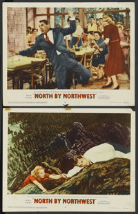 "North by Northwest (MGM, 1959). Lobby Cards (2) (11"" X 14""). Hitchcock. ... (Total: 2 Item Items)"