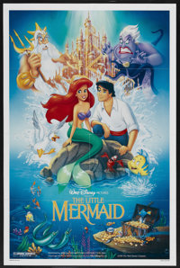 """The Little Mermaid (Buena Vista, 1989). One Sheet (27"""" X 41"""") DS. Animated"""