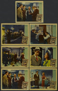 "Movie Posters:Crime, Escape From Crime (Warner Brothers, 1942). Lobby Cards (7) (11"" X14""). Crime. ... (Total: 7 Items)"