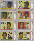 Baseball Cards:Sets, 1955 Tops Baseball Complete Set (206). This was Topps' first horizontally oriented baseball issue. The format presented dual...