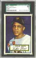 Baseball Cards:Singles (1950-1959), 1952 Topps Willie Mays #261 SGC 84 NM 7. A Hall of Fame rookie fromone of the hobby's most celebrated sets. While Willie...