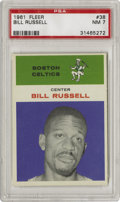 Basketball Cards:Singles (Pre-1970), 1961-62 Fleer Bill Russell #38 PSA NM 7. Offered here is a NMexample Bill Russell card from the classic '61 Fleer issue. R...