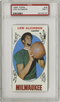 Basketball Cards:Singles (Pre-1970), 1969-70 Topps Lew Alcindor #25 PSA NM 7. One of the last cards thatnames Alcindor prior to his Islam conversion. An excel...