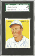 Baseball Cards:Singles (1930-1939), 1933 Goudey Jack Russell #123 SGC 88 NM/MT 8. Russell's 54 appearances and seven relief victories were league highs in 1934...