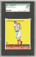 Baseball Cards:Singles (1930-1939), 1933 Goudey Bing Miller #59 SGC 88 NM/MT 8. Miller joined with Mule Haas and Al Simmons in the Athletics' outfield for Mack...
