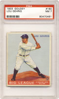 Baseball Cards:Singles (1930-1939), 1933 Goudey Lou Gehrig #160 PSA NM 7. Terrific color andregistration paired with four evenly spaced borders makes thiscov...