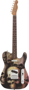 Music Memorabilia:Instruments , Rolling Stones - Keith Richards Skull Art Custom Shop FenderGuitar....
