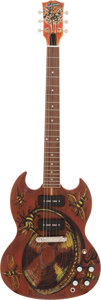 Music Memorabilia:Autographs and Signed Items, Rolling Stones - Ronnie Wood Hand-Painted and Signed Gibson SGGuitar....