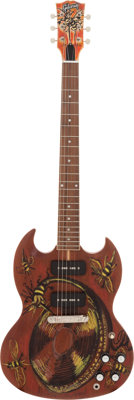 Rolling Stones - Ronnie Wood Hand-Painted and Signed Gibson SG Guitar