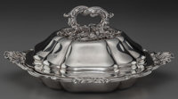 A PAUL STORR SILVER COVERED VEGETABLE SERVING DISH, London, England, circa 1840-1841 Marks to lid: (lion passant)