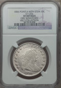 Early Half Dollars, 1806 50C Pointed 6, Stem, O-120a, R.4, -- Obverse Scratched -- NGCDetails. XF. Ex: Hilt Collection. NGC Census: (2/8). PCG...
