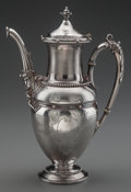 Silver Holloware, American:Coffee Pots, A GORHAM COIN SILVER COFFEE POT, Providence, Rhode Island, circa1860. Marks: (lion-anchor-G), 30, COIN (effaced mark). ...