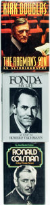 Books:Biography & Memoir, [Film.] Group of Three Biographies About Famous Actors. Variouspublishers and dates. ... (Total: 3 Items)