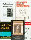 Books:Music & Sheet Music, [Schoenberg.] Group of Five Books Related to Arnold Schoenberg.Various publishers and dates. ... (Total: 5 Items)