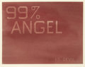 ED RUSCHA (American, b. 1937) 99% Angel, 1% Devil, 1983 Dry pigment on paper 21 x 27-1/4 inches (