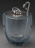 Silver Holloware, Continental, A DRAGSTED GLASS AND SILVER JAM JAR AND LADLE, Copenhagen, Denmark,circa 1945. Marks: E. DRAGSTED, STERLING, DENMARK, 177...(Total: 3 )