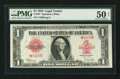 Fr. 40* $1 1923 Legal Tender PMG About Uncirculated 50 Net