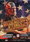 Music Memorabilia:Autographs and Signed Items, Willie Nelson Dodge Theatre Concert Autographed Oversized VinylBanner (2009)....