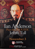 Music Memorabilia:Autographs and Signed Items, Jethro Tull - Ian Anderson Autographed Oversized Vinyl DodgeTheatre Concert Banner (2009)....