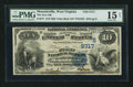 National Bank Notes:West Virginia, Moundsville, WV - $10 1882 Value Back Fr. 577 The First NB Ch. #(S)5717. ...