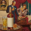 Illustration:Advertising, DEAN CORNWELL (American, 1892-1960). The Heritage that isPhiladelphia, Philadelphia Blended Whiskey advertisement,1943... (Total: 2 Items)