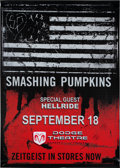 Music Memorabilia:Autographs and Signed Items, Smashing Pumpkins Dodge Theatre Concert Signed Oversized VinylBanner (2007)....